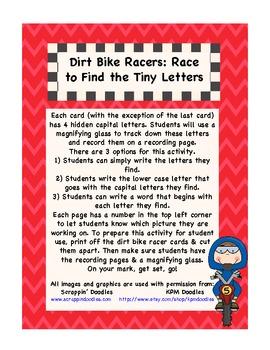 Dirt Bike Racers: A Differentiated Alphabet I-Spy