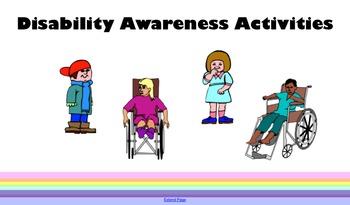 Disability Awareness Activities