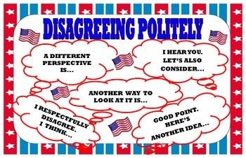 Kagan Disagreeing Politely Poster:  Civics Theme