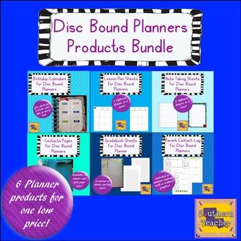 Disc Bound Planner Product Bundle