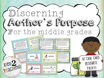 Discerning Author's Purpose Task Card Resource Pack