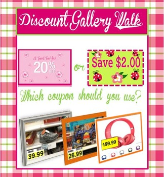Discount Gallery Walk 7.RP.1- Freebie!