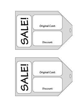Discount Percent Sales Tags