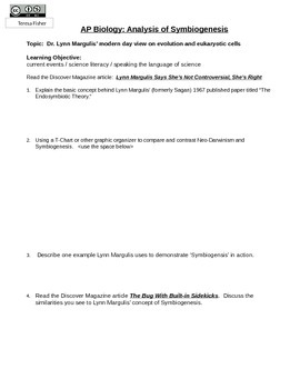Discover Article Analysis Questions-Lynn Margulis and Symb