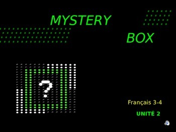 Discovering French Blanc - Unite 2: MYSTERY BOX REVIEW GAM