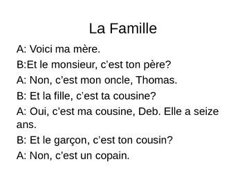 La famille with sound files Discovering French Bleu Leçon 2C