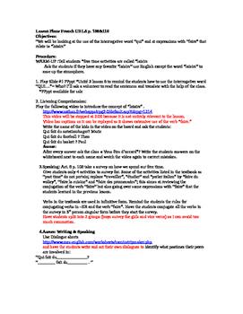 Discovering Lesson Plans  Unit 3 Lesson 8 p. 108&110