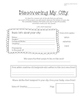 Discovering My City worksheets
