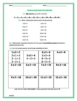 Discovering Related Facts - Multiplication and Division