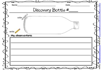 Discovery Bottles Recording Sheet