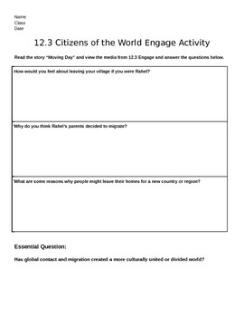 Discovery Education, Grade 7 SS Techbook: Ch. 12.3 Engage