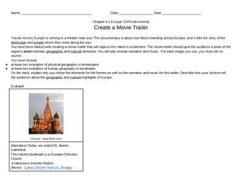 Discovery Education, Grade 7 SS Techbook: Ch. 4.1 Movie Tr