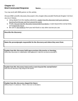 Discovery Education, Grade 7 SS Techbook: Ch. 4.3 Brief Co