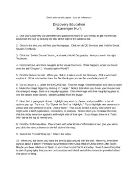 Discovery Education, Grade 7 World Geography Techbook: Bef