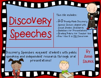 Discovery Speeches: Public Speaking and Independent Resear