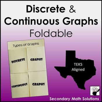 Discrete & Continuous Graphs Foldable
