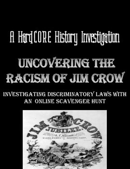 Discrimination in America: Jim Crow Online Scavenger Hunt Lesson