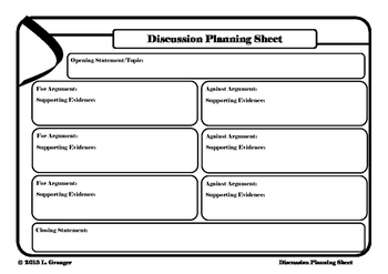 Discussion Planning Sheet Landscape