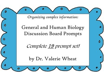 Discussion Prompts for Human and General Biology