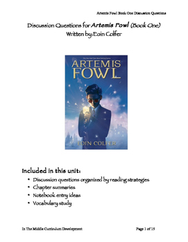 Discussion Questions for Artemis Fowl Book One