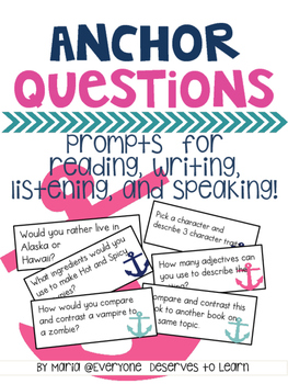 Discussion Questions for Reading, Writing, Speaking, and L