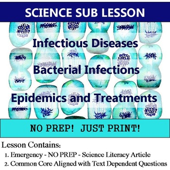 Diseases Substitute Lesson Plan - Cells Homework or Enrich