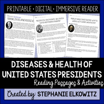 President's Day Science Activities: Diseases and Health of