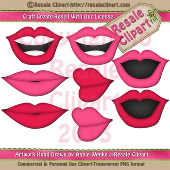 Disguise Party 4 Lips ClipArt - CU