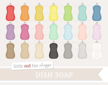 Dish Soap Clipart; Cleaning