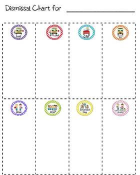 Dismissal Chart for clip board
