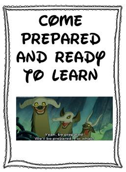 Disney Class Rules