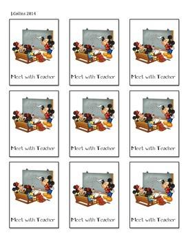 Disney Daily 5 Choice Cards-Meet with Teacher