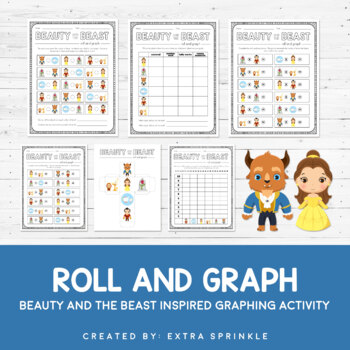 Disney Inspired Beauty & The Beast Roll and Graph Activity