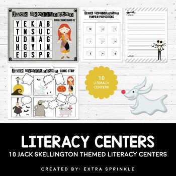 10 Disney Inspired Jack Skellington Literacy Centers