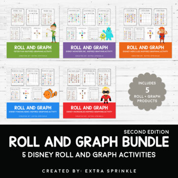Disney Inspired Roll and Graph Activities Bundle Second Edition