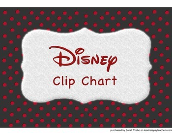 Disney Movie Clip Chart- Colorful!