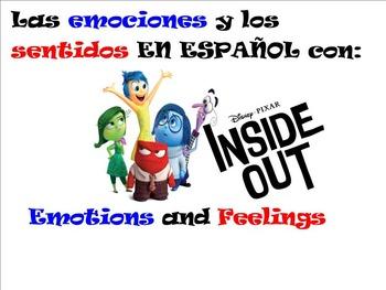 Emotions & Feelings in Spanish with Disney Pixar's Inside