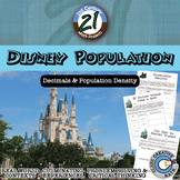 Disney Population -- Decimals and Population Density Project
