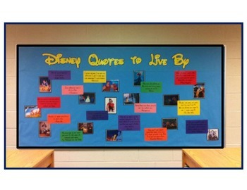 Disney Quotes Bulletin Board- printable template
