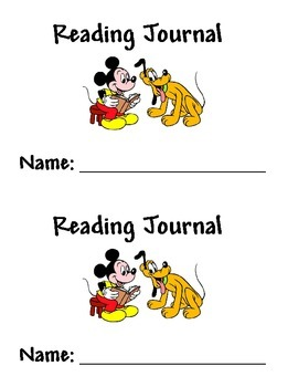 Disney Reading Journal Covers