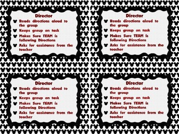 Disney Themed Cooperative Group Roles