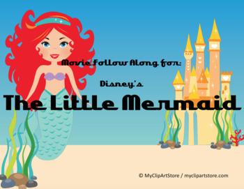 Disney's The Little Mermaid Movie follow along sheet & wor
