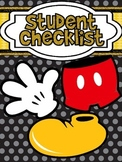 Mickey Themed Black Polkadot Student Checklist