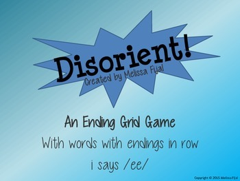 Disorient! - Ending Grid Game