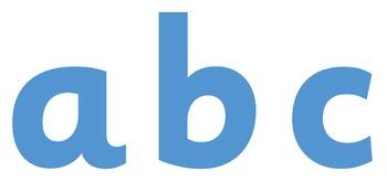 Display Lettering & Symbols (Pastel Blue)