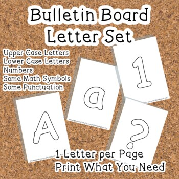 Printable display bulletin letters numbers and more: White