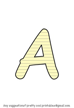 Printable display bulletin letters numbers and more: Lined Paper
