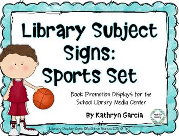 Subject Signs for the Library: Sports Set