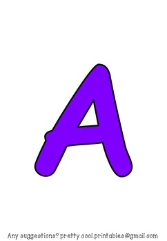 Printable display bulletin letters numbers and more: Solid Purple