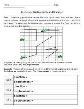 Distance, Displacement, and Direction